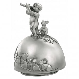 Pewter Pied Piper Music Carousel