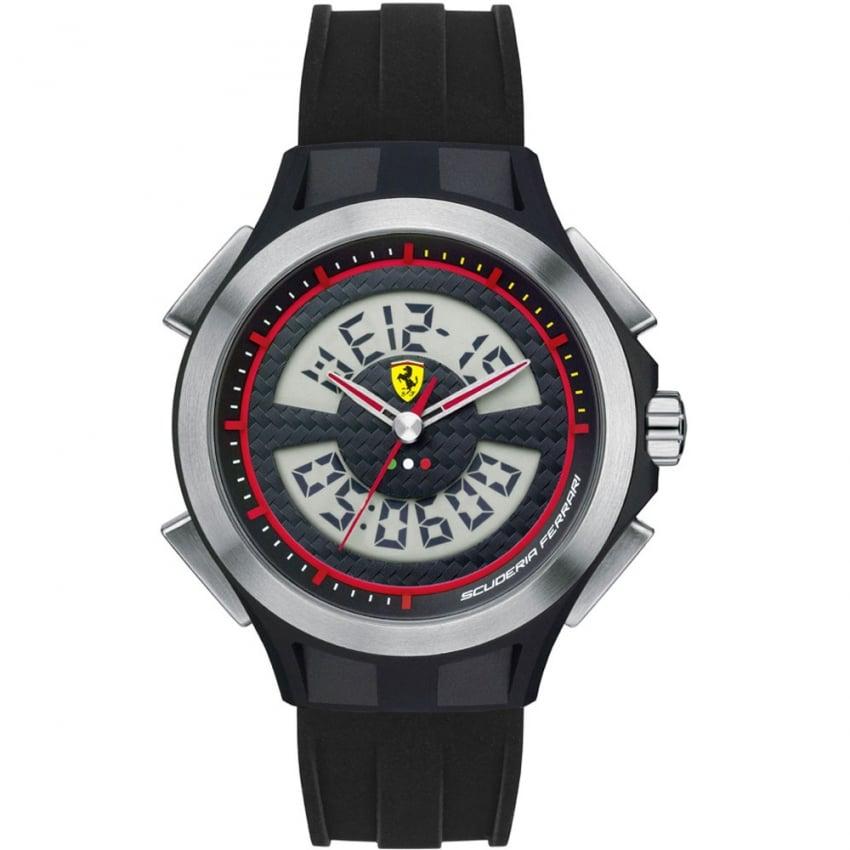 Scuderia Ferrari Men's Digital Chronograph Black Strap Watch 0830018
