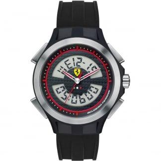 Men's Digital Chronograph Black Strap Watch 0830018