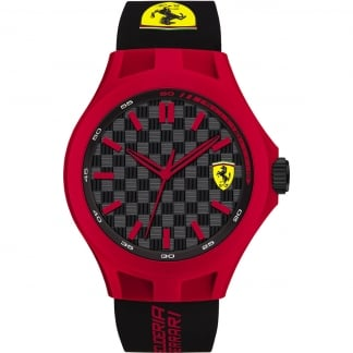 Men's Pit Crew Black and Red Watch