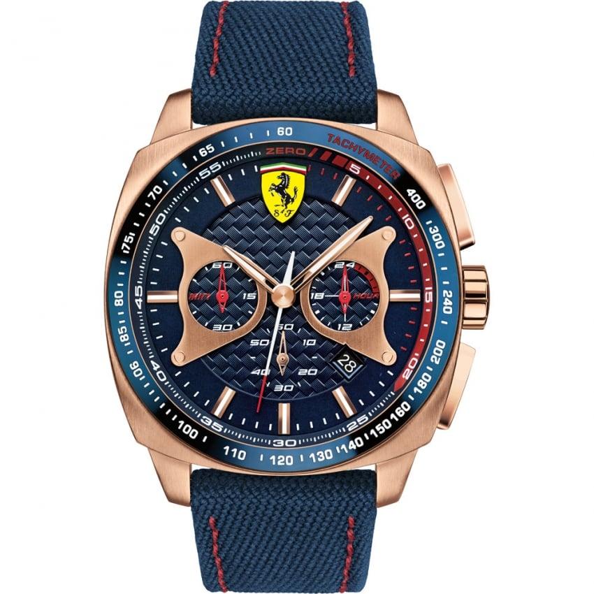 Scuderia Ferrari Men's Aereo Blue and Rose Chronograph Watch 0830293