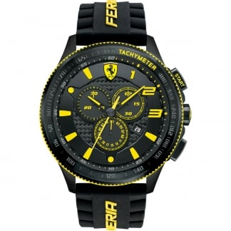 Men's XX Chrongraph Watch with Yellow Accents 0830139