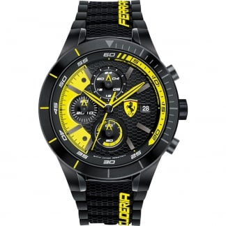 Men's RedRev Evo Black/Yellow Chronograph Watch 0830261