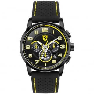 Men's Heritage Chronograph Watch with Yellow Accents 0830061