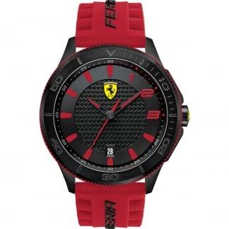 Men's XX Red Rubber Strap Watch 0830136