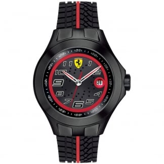 Men's Textues of Racing Watch with Rubber Strap 0830027