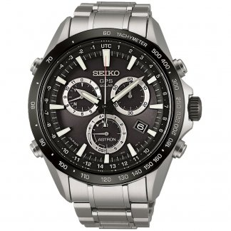 Men's Black Dial GPS Solar Watch