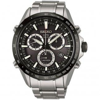 Men's Black Dial GPS Solar Watch SSE011J1