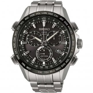 Men's GPS All Titanium Solar Chronograph Watch