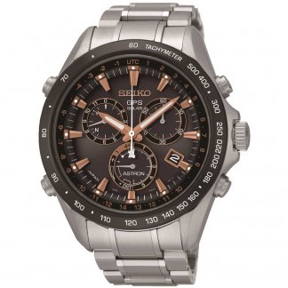 Men's GPS Solar Ceramic Bezel Chronograph Watch SSE033J1