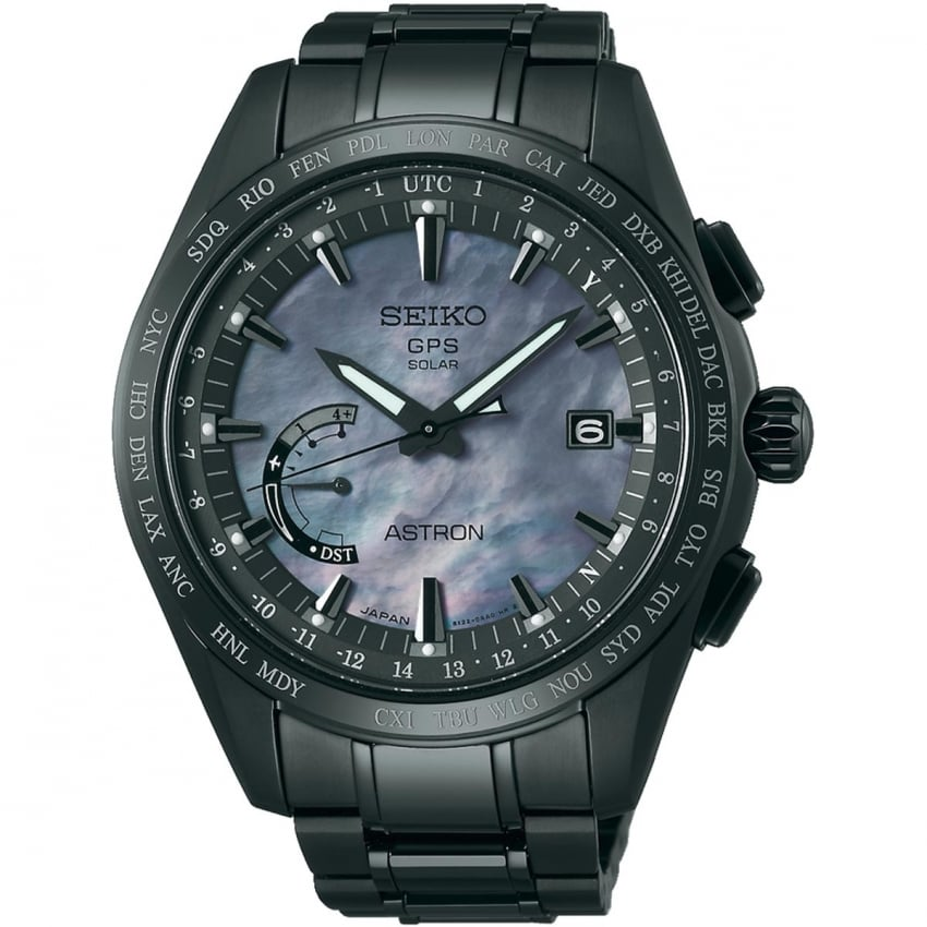 Seiko Astron Men's Limited Edition 'Earth AT Night' Titanium GPS Watch SSE091J1