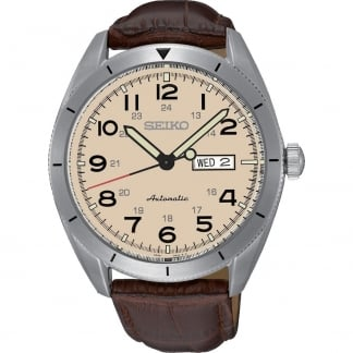 Gent's Automatic Brown Leather Strap Watch SRP713K1