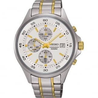 Gent's Two Tone Chronograph Watch SKS479P1