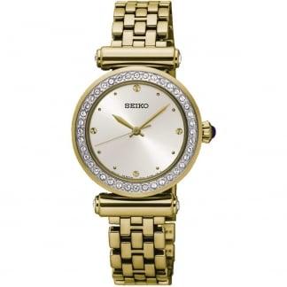 Ladies Crystal Bezel Gold Tone Watch SRZ468P1