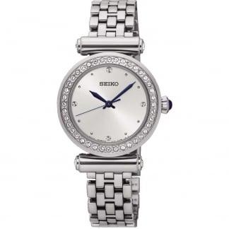 Ladies Crystal Bezel Silver Tone Watch SRZ465P1