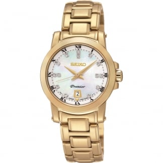 Ladies Gold PVD Diamond Set Premier Watch SXDG04P1