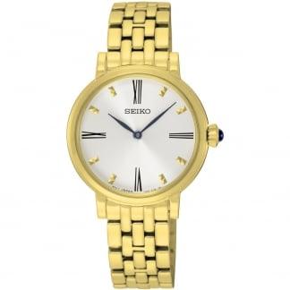 Ladies Quartz Gold Plated Bracelet Watch SFQ814P1