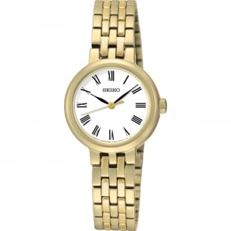 Ladies Quartz Gold Plated Bracelet Watch