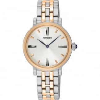 Ladies Quartz Two Tone Bracelet Watch SFQ816P1