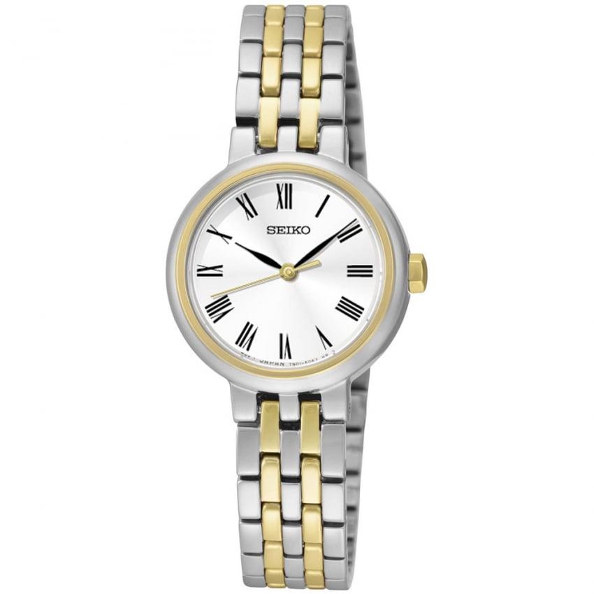 Seiko Ladies Two Tone Classic-Style Quartz Watch SRZ462P1