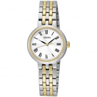 Ladies Two Tone Classic-Style Quartz Watch