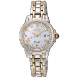 Ladies Two Tone Solar Diamond Watch