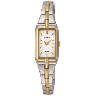 Ladies Two Tone Solar Powered Watch