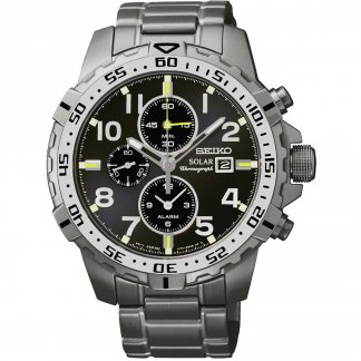 Men's All Steel Solar Chronograph Watch SSC307P9