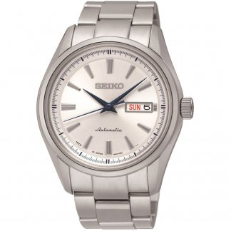 Men's Automatic Day/Date Silver Dial Watch