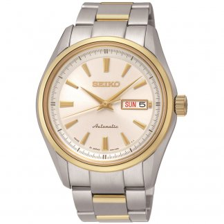 Men's Automatic Two Tone Bracelet Watch