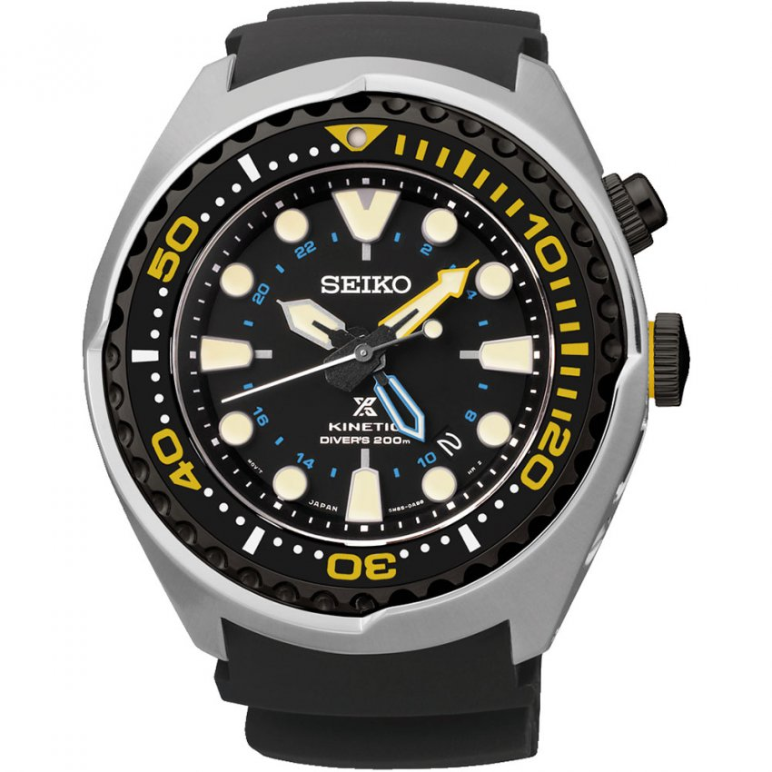 Seiko Men's Kinetic Prospex Divers Watch with Perpetual Calendar SUN021P1