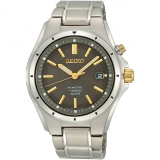 Men's Kinetic Titanium Watch With Gold Detail
