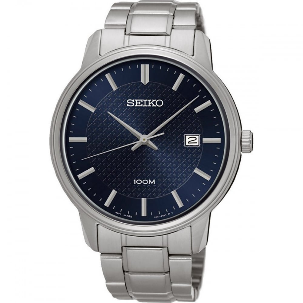 8eca1e247 Seiko Men's Neo Classic Blue Dial Quartz Watch Product Code: SUR193P1
