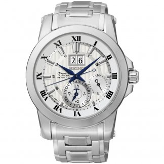 Men's Premier Kinetic Perpetual Calendar Steel Bracelet Watch SNP091P1