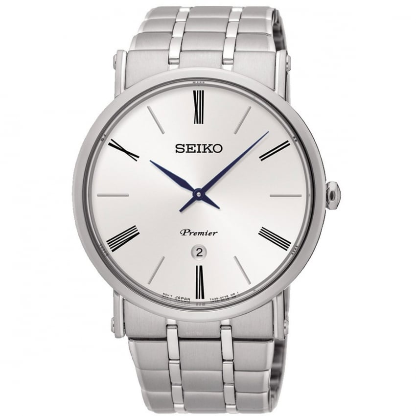 Seiko Men's Premier Steel Bracelet Watch SKP391P1