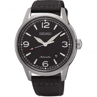 Men's Presage Automatic Black Strap Watch SRPB07J1