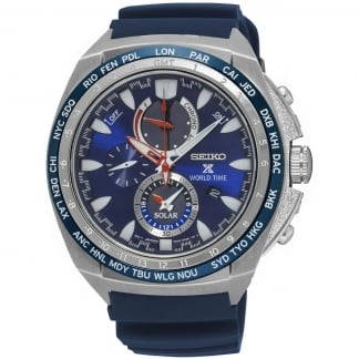 Men's Prospex Solar World Time Chronograph Watch SSC489P1