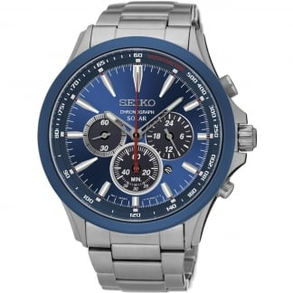 Men's Solar Blue Dial Chronograph Watch SSC495P1