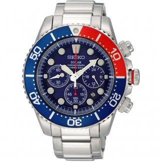 Men's Solar Powered Blue Dial Divers Watch SSC019P1