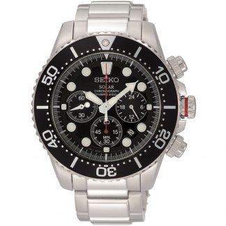 Men's Solar Powered Chronograph Divers Watch SSC015P1