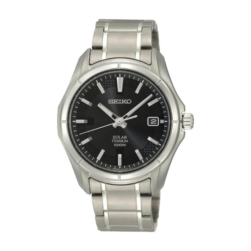 029e5698bd5ba Seiko Men s Solar Powered Light Titanium Watch Product Code  SNE141P1