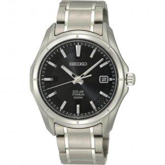 Men's Solar Powered Light Titanium Watch SNE141P1