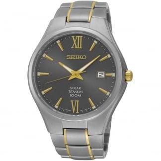 Men's Solar Two Tone Titanium 100M Watch SNE409P1