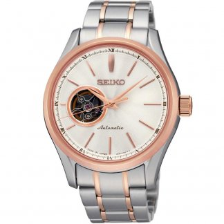 Men's Steel & Rose Gold Automatic Watch SSA084J1