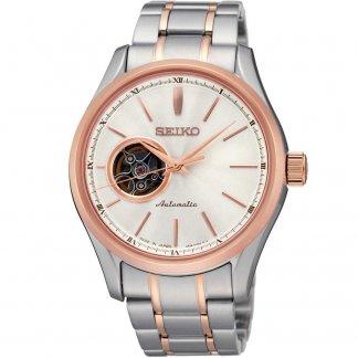 Men's Steel & Rose Gold Automatic Watch SSA084J1