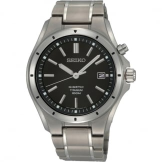 Men's Titanium Kinetic Watch With Black Dial
