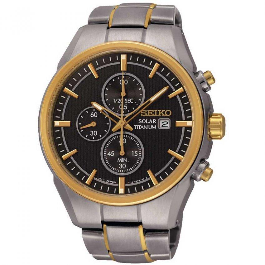 Seiko Men's Titanium Solar-Powered Chronograph Watch SSC392P9