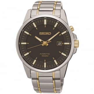 Men's Two Tone Kinetic Watch With Date