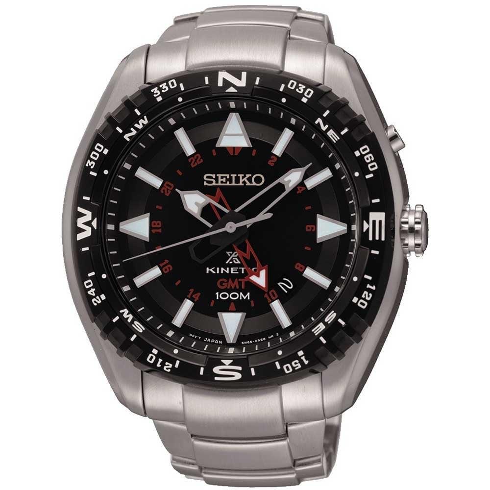 Seiko Prospex Men's Kinetic GMT Landmaster Watch