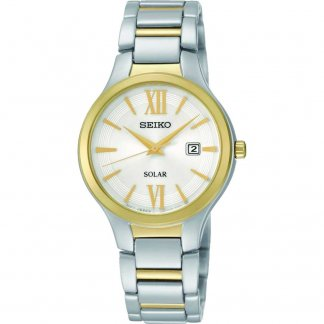 Solar Powered Ladies Two Tone Dress Watch